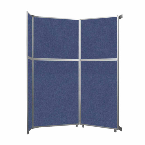 """Operable Wall Folding Room Divider 7'11"""" x 10'3/4"""" Cerulean Fabric"""