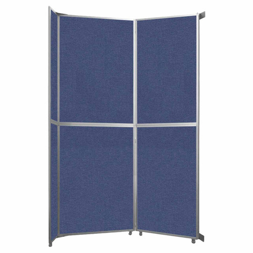 """Operable Wall Folding Room Divider 7'11"""" x 12'3"""" Cerulean Fabric"""