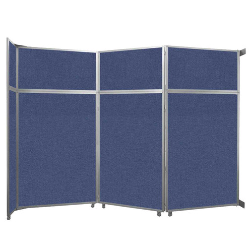 """Operable Wall Folding Room Divider 11'9"""" x 8'5-1/4"""" Cerulean Fabric"""