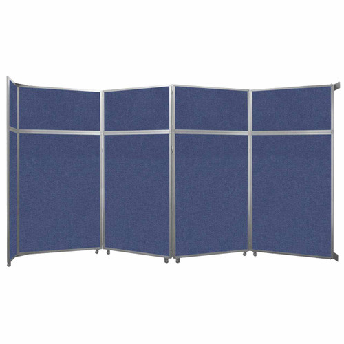 """Operable Wall Folding Room Divider 15'7"""" x 8'5-1/4"""" Cerulean Fabric"""