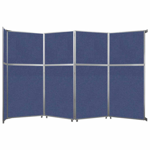 """Operable Wall Folding Room Divider 15'7"""" x 10'3/4"""" Cerulean Fabric"""