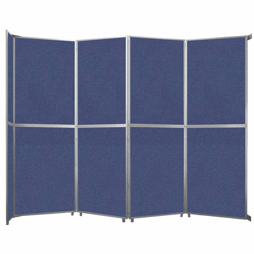 "Operable Wall Folding Room Divider 15'7"" x 12'3"" Cerulean Fabric"