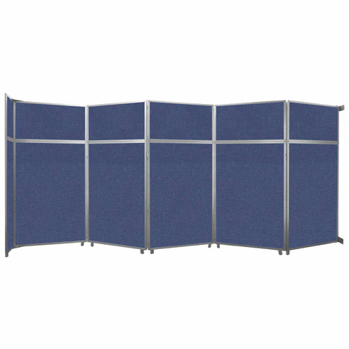 """Operable Wall Folding Room Divider 19'6"""" x 8'5-1/4"""" Cerulean Fabric"""
