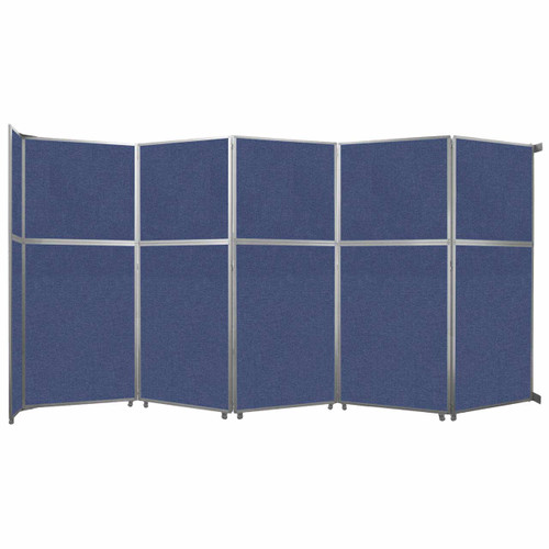 "Operable Wall Folding Room Divider 19'6"" x 10'3/4"" Cerulean Fabric"