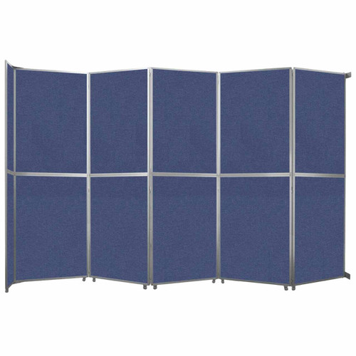 "Operable Wall Folding Room Divider 19'6"" x 12'3"" Cerulean Fabric"