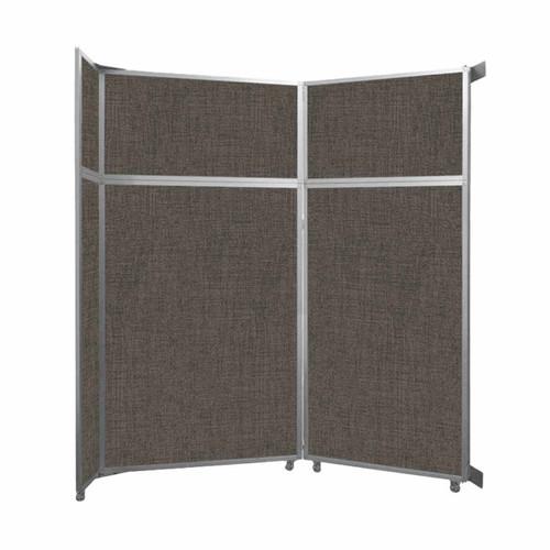 "Operable Wall Folding Room Divider 7'11"" x 8'5-1/4"" Mocha Fabric"
