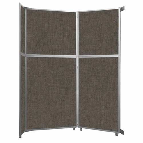 "Operable Wall Folding Room Divider 7'11"" x 10'3/4"" Mocha Fabric"
