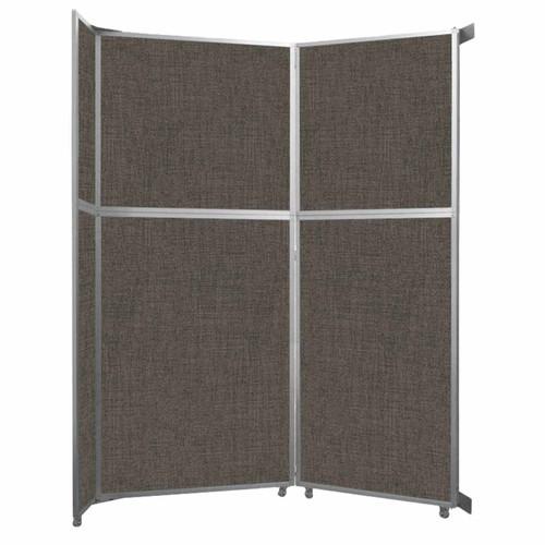 "Operable Wall Folding Room Divider 7'11"" x 10'3/4"" Mocha Fabric"