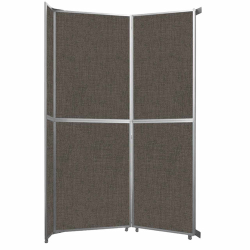"Operable Wall Folding Room Divider 7'11"" x 12'3"" Mocha Fabric"