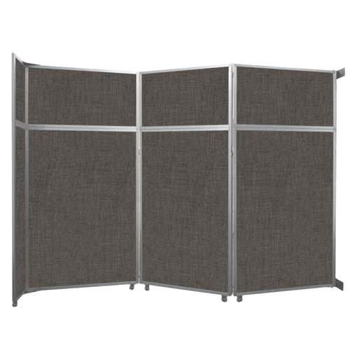 "Operable Wall Folding Room Divider 11'9"" x 8'5-1/4"" Mocha Fabric"