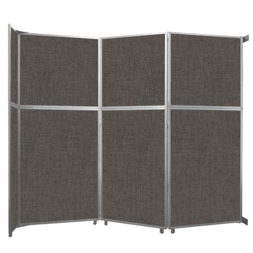 "Operable Wall Folding Room Divider 11'9"" x 10'3/4"" Mocha Fabric"