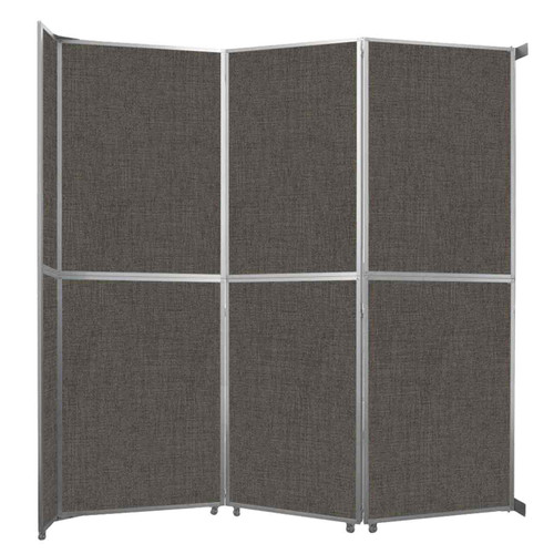 "Operable Wall Folding Room Divider 11'9"" x 12'3"" Mocha Fabric"