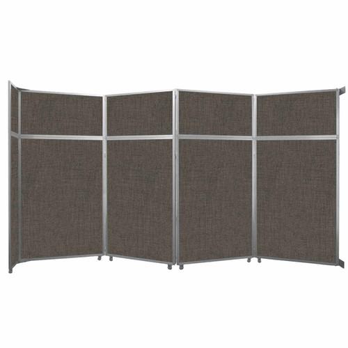 "Operable Wall Folding Room Divider 15'7"" x 8'5-1/4"" Mocha Fabric"