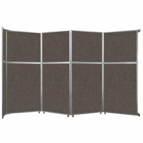"Operable Wall Folding Room Divider 15'7"" x 10'3/4"" Mocha Fabric"