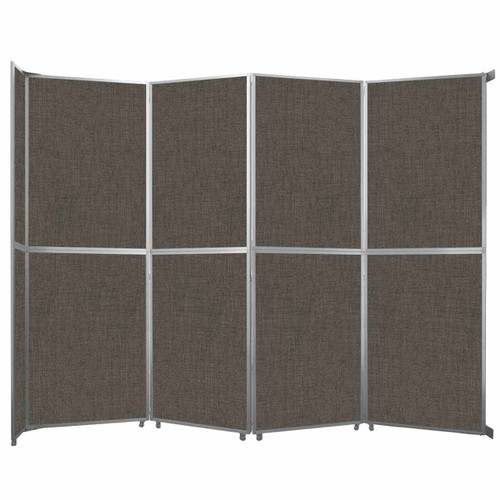"Operable Wall Folding Room Divider 15'7"" x 12'3"" Mocha Fabric"