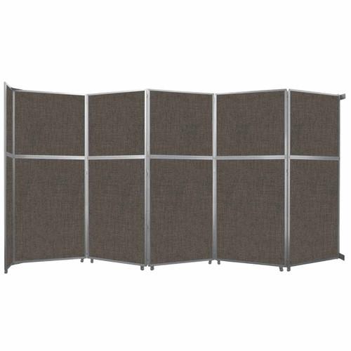 "Operable Wall Folding Room Divider 19'6"" x 10'3/4"" Mocha Fabric"