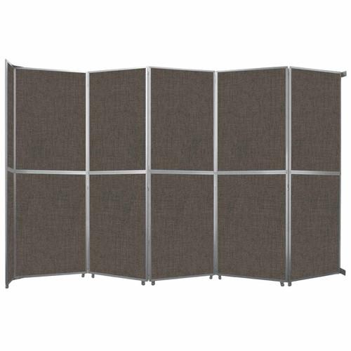 "Operable Wall Folding Room Divider 19'6"" x 12'3"" Mocha Fabric"