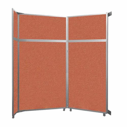 "Operable Wall Folding Room Divider 7'11"" x 8'5-1/4"" Papaya Fabric"