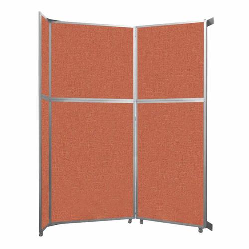 "Operable Wall Folding Room Divider 7'11"" x 10'3/4"" Papaya Fabric"