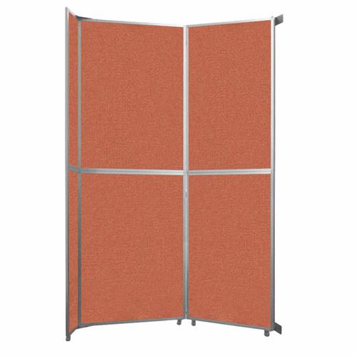"Operable Wall Folding Room Divider 7'11"" x 12'3"" Papaya Fabric"