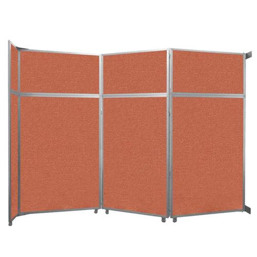 "Operable Wall Folding Room Divider 11'9"" x 8'5-1/4"" Papaya Fabric"