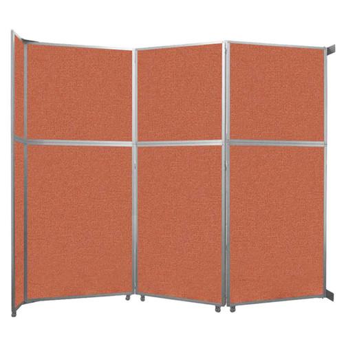 "Operable Wall Folding Room Divider 11'9"" x 10'3/4"" Papaya Fabric"