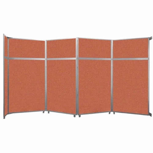 "Operable Wall Folding Room Divider 15'7"" x 8'5-1/4"" Papaya Fabric"