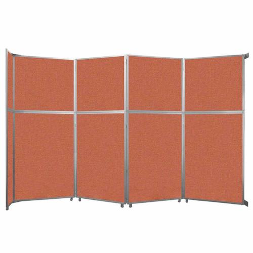 "Operable Wall Folding Room Divider 15'7"" x 10'3/4"" Papaya Fabric"