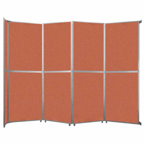"Operable Wall Folding Room Divider 15'7"" x 12'3"" Papaya Fabric"