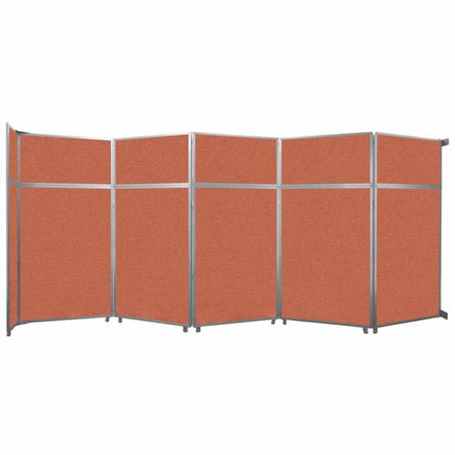 "Operable Wall Folding Room Divider 19'6"" x 8'5-1/4"" Papaya Fabric"
