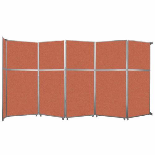 "Operable Wall Folding Room Divider 19'6"" x 10'3/4"" Papaya Fabric"