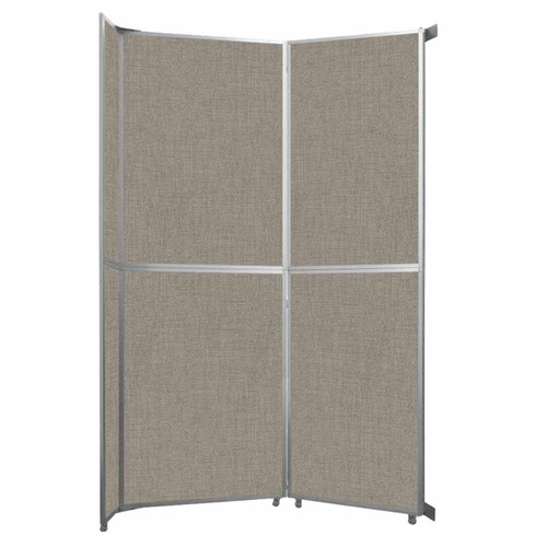 """Operable Wall Folding Room Divider 7'11"""" x 12'3"""" Warm Pebble Fabric"""