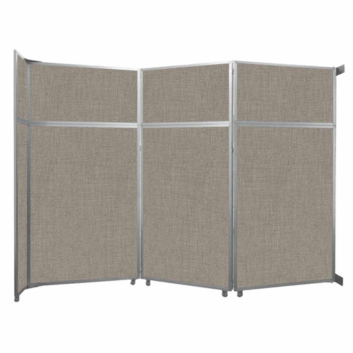 "Operable Wall Folding Room Divider 11'9"" x 8'5-1/4"" Warm Pebble Fabric"