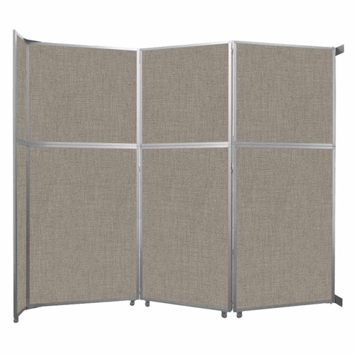 "Operable Wall Folding Room Divider 11'9"" x 10'3/4"" Warm Pebble Fabric"