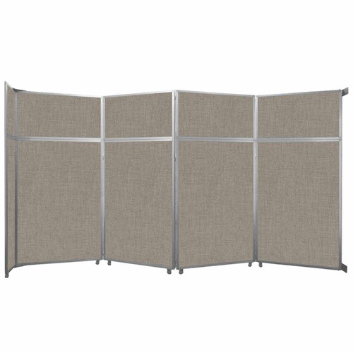 "Operable Wall Folding Room Divider 15'7"" x 8'5-1/4"" Warm Pebble Fabric"