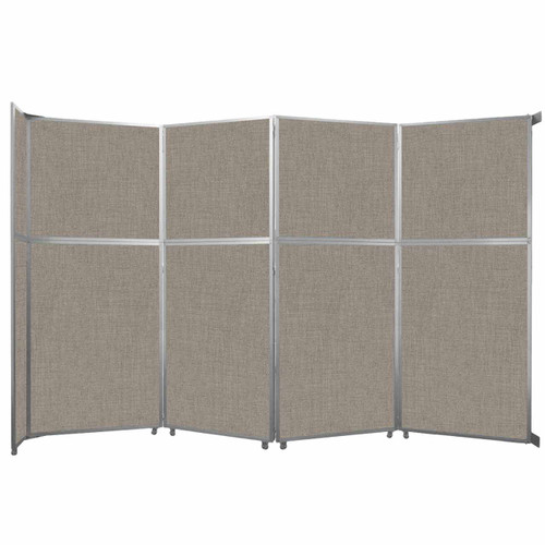 """Operable Wall Folding Room Divider 15'7"""" x 10'3/4"""" Warm Pebble Fabric"""