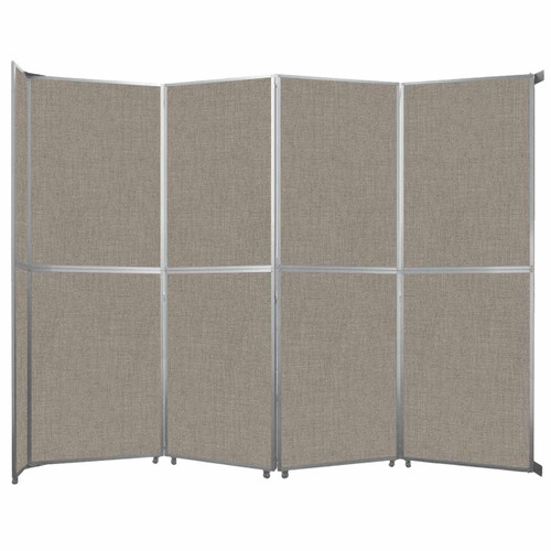 "Operable Wall Folding Room Divider 15'7"" x 12'3"" Warm Pebble Fabric"