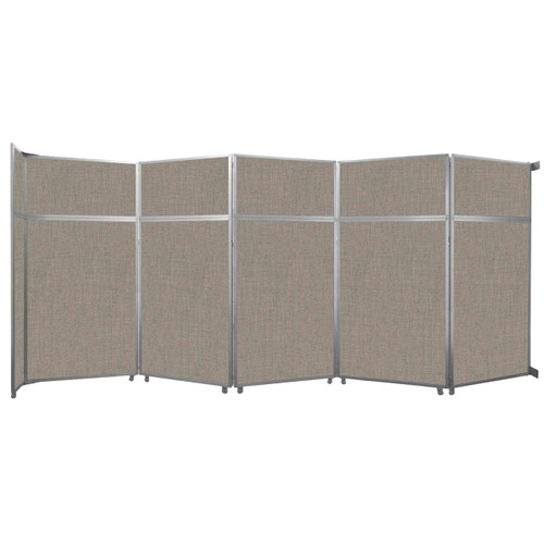 "Operable Wall Folding Room Divider 19'6"" x 8'5-1/4"" Warm Pebble Fabric"