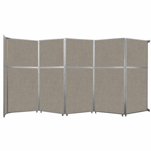 """Operable Wall Folding Room Divider 19'6"""" x 10'3/4"""" Warm Pebble Fabric"""