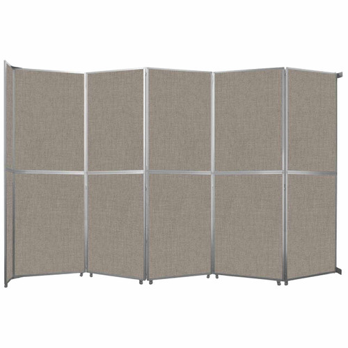 """Operable Wall Folding Room Divider 19'6"""" x 12'3"""" Warm Pebble Fabric"""