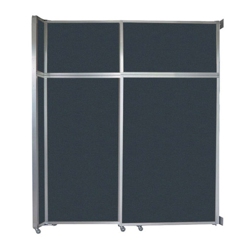 "Operable Wall Sliding Room Divider 6'10"" x 8'5-1/4"" Blue Spruce Fabric"