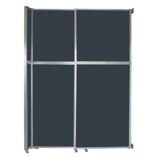 "Operable Wall Sliding Room Divider 6'10"" x 10'3/4"" Blue Spruce Fabric"