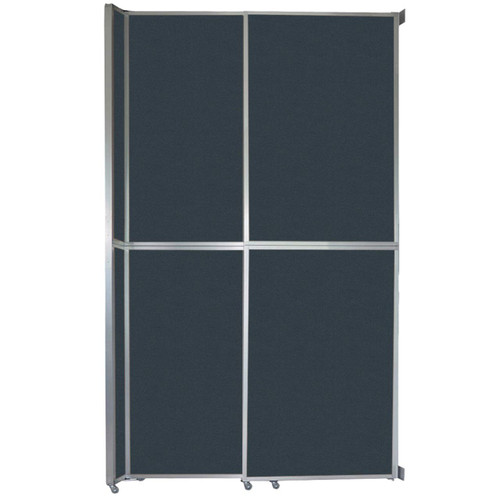 """Operable Wall Sliding Room Divider 6'10"""" x 12'3"""" Blue Spruce Fabric"""