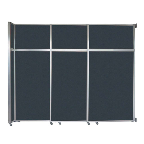 "Operable Wall Sliding Room Divider 9'9"" x 8'5-1/4"" Blue Spruce Fabric"