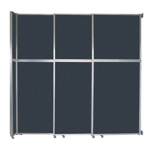 "Operable Wall Sliding Room Divider 9'9"" x 10'3/4"" Blue Spruce Fabric"