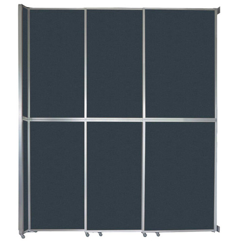 """Operable Wall Sliding Room Divider 9'9"""" x 12'3"""" Blue Spruce Fabric"""