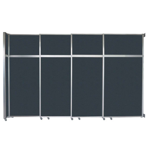 "Operable Wall Sliding Room Divider 12'8"" x 8'5-1/4"" Blue Spruce Fabric"