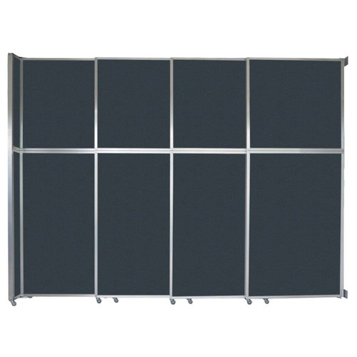 "Operable Wall Sliding Room Divider 12'8"" x 10'3/4"" Blue Spruce Fabric"