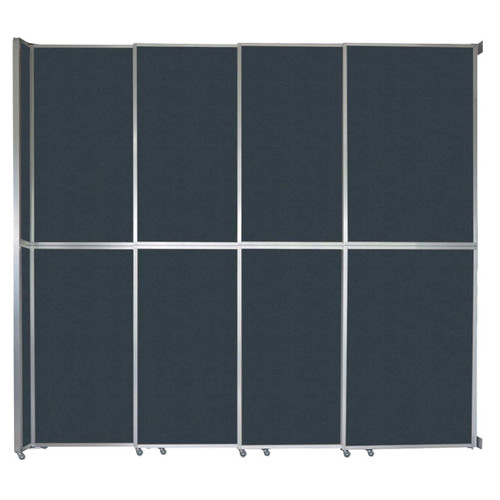 "Operable Wall Sliding Room Divider 12'8"" x 12'3"" Blue Spruce Fabric"