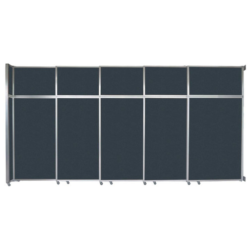 "Operable Wall Sliding Room Divider 15'7"" x 8'5-1/4"" Blue Spruce Fabric"